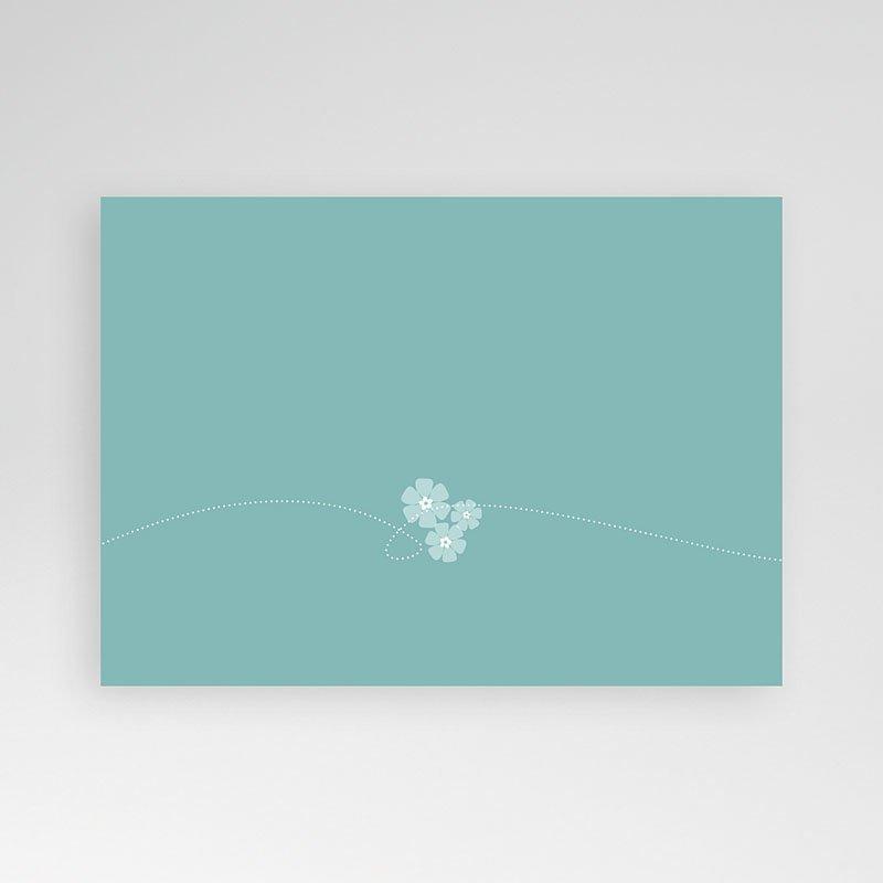 Doopkaartje jongen - Bloemrijk blauw 12022 thumb