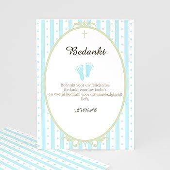 Bedankkaart doopviering jongen - Kleine blauwe voetjes - 1