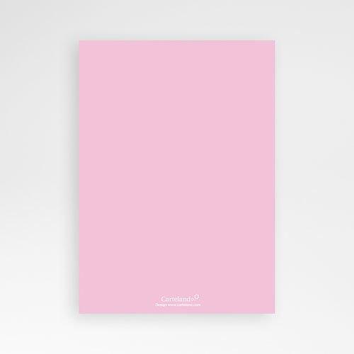 Doopkaartje meisje Roze zegel met jurkje pas cher
