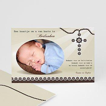 Bedankkaart doopviering jongen - Kralen en stralen - 1