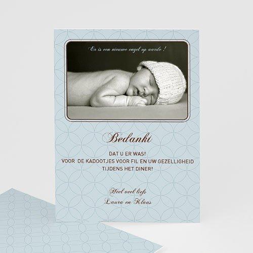 Bedankkaart doopviering jongen - Klassiek portret 12035 thumb