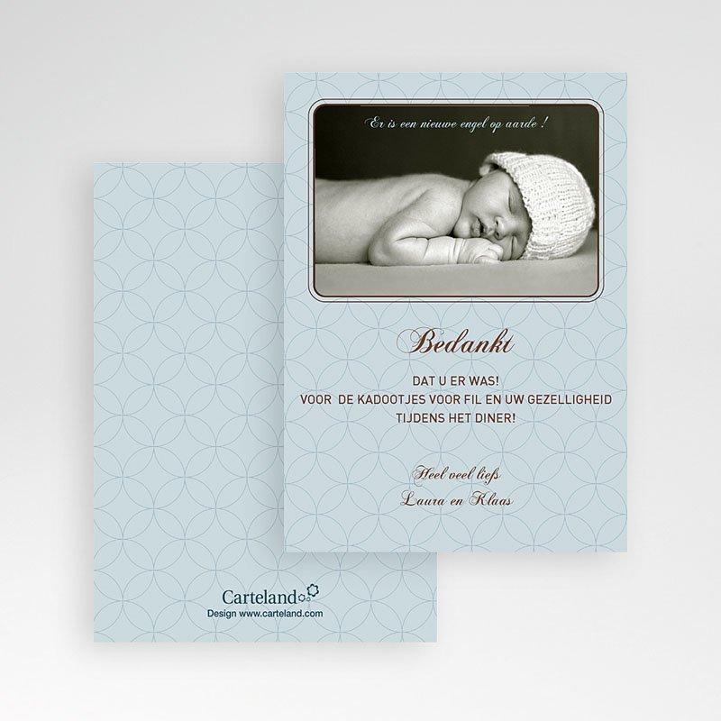 Bedankkaart doopviering jongen - Klassiek portret 12036 thumb