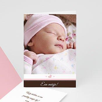 Adoptiekaarten voor meisjes - Postzegel in blauw - 1