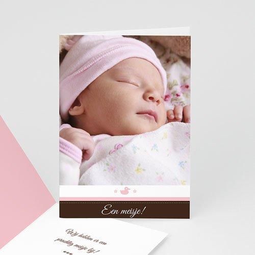 Adoptiekaarten voor meisjes - Postzegel in blauw 12076 thumb