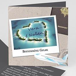 Personaliseerbare trouwkaarten - Liefdesparadijs - 1
