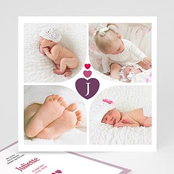 Geboortekaartje meisje - vanuit ons hart - 1