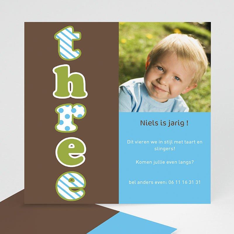 Verjaardagskaarten jongens - Drie jaar, jongen 12229 thumb