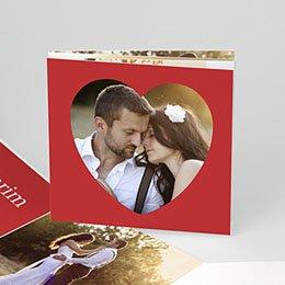 Bedankkaartjes Huwelijk Vierluik in rood