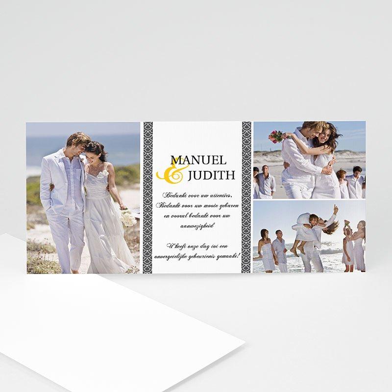 Bedankkaartjes huwelijk Grijze waaier