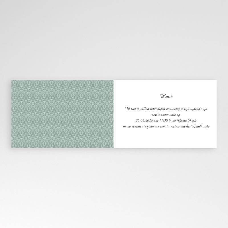 Uitnodiging communie jongen - Communieviering lichtblauw 12262 thumb