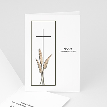 Bedankkaarten overlijden, Christelijk Tarwestengels 2