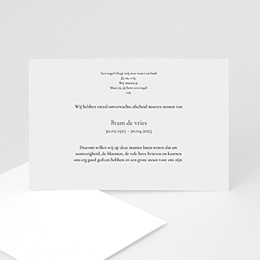 Aankondiging Décès universel Dubbel omlijst