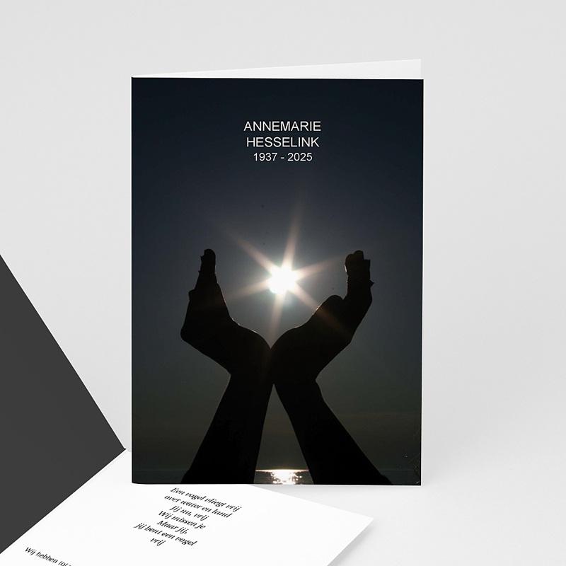 Universele rouwkaarten - Het licht in mijn handen 12301 thumb