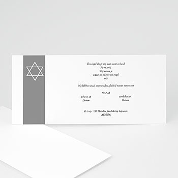 Bedankkaarten overlijden, Joods Onze herinnering