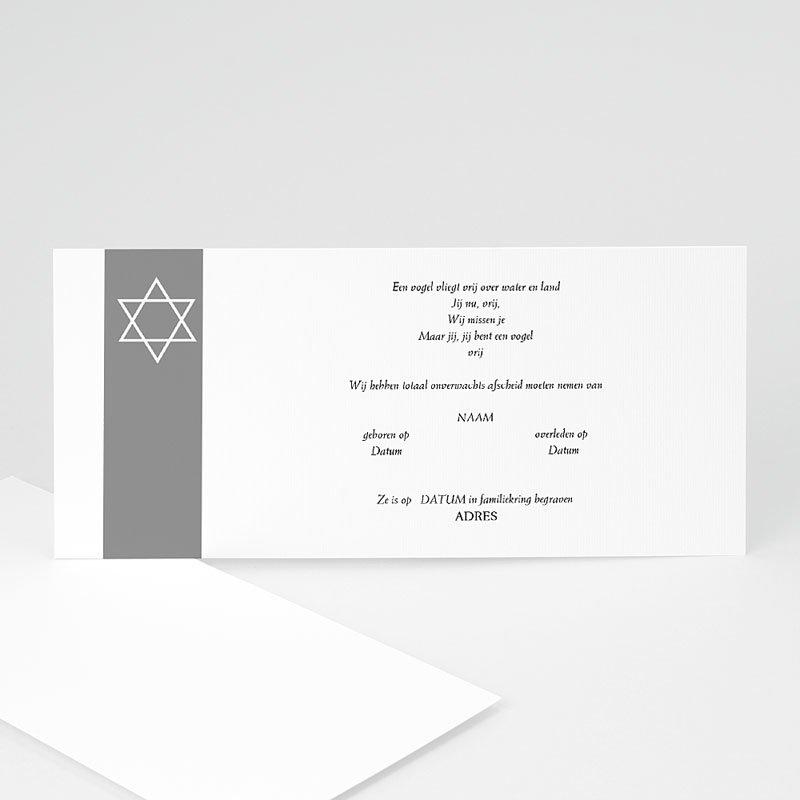 Bedankkaarten overlijden, Joods - Onze herinnering 12317 thumb