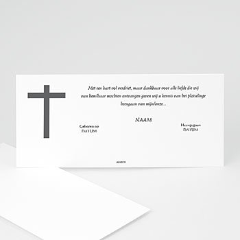 Bedankkaarten overlijden, Christelijk Enkel kruis