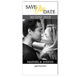 Save the date kaartjes Grijze waaier