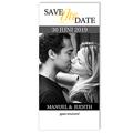 Save the date kaartjes - Grijze waaier 12327 thumb