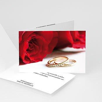 Personaliseerbare trouwkaarten - In de luwte van rozen - 1