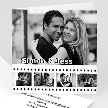 Trouwkaarten met foto - Op de film - 1