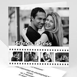 Personaliseerbare trouwkaarten - Op de film - 1