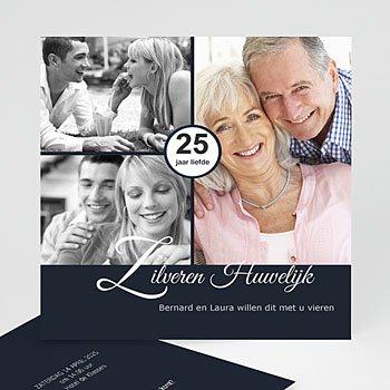 Jubileumkaarten huwelijk - Elegante uitnodiging - 1