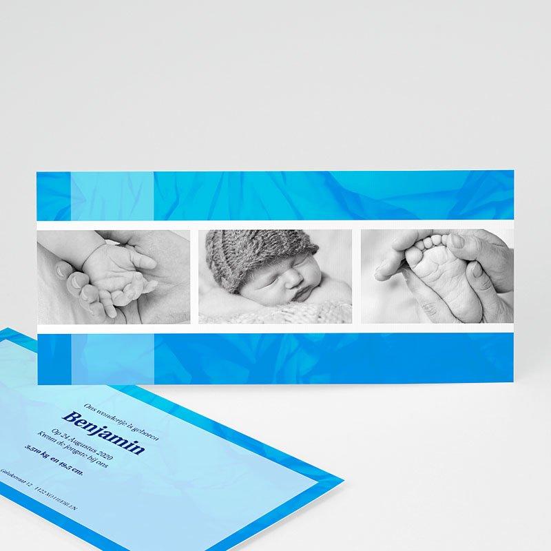Geboortekaartje jongen - Ingelijst in blauw 12404 thumb