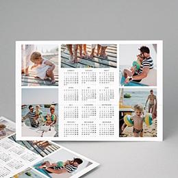Kalender jaaroverzicht - kleuren kalender multifoto - 2