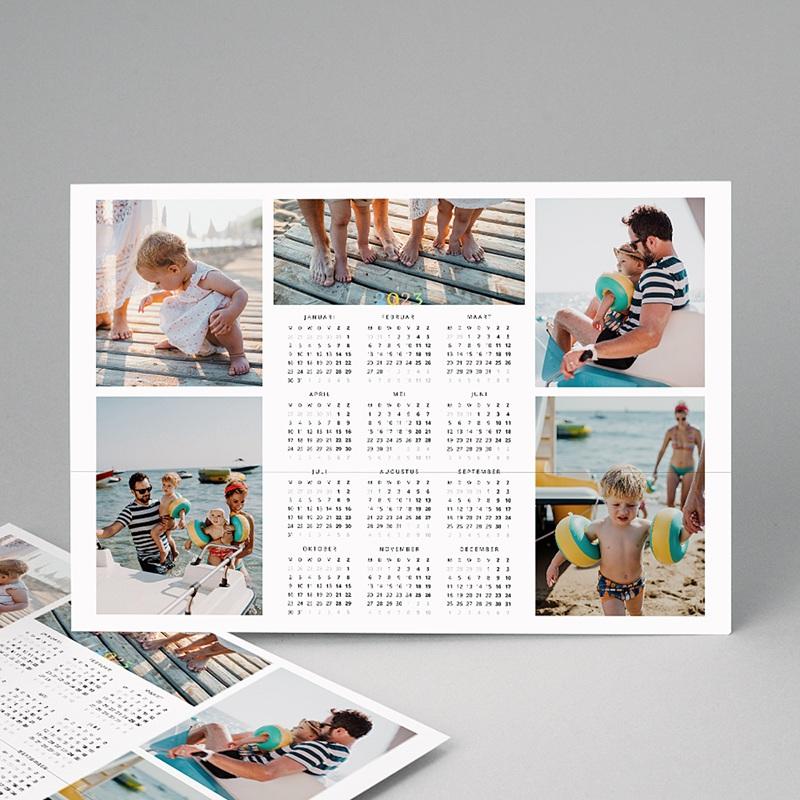 Kalender jaaroverzicht - kleuren kalender multifoto 12411 thumb