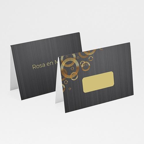 Personaliseerbare plaatskaartjes voor verjaardag - 70 jarig huwelijk, platinum bruiloft 12422 thumb