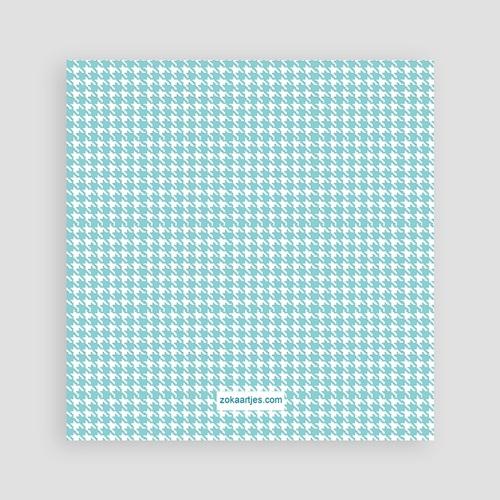 Bedankkaartje geboorte zoon - Blauwe knoopjes 12436 thumb