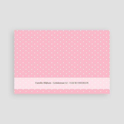 Bedankkaartje geboorte dochter - Pink Lady 12448 thumb