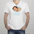 T-shirt met foto - Hoofd in de wolken t-shirt 12472 thumb