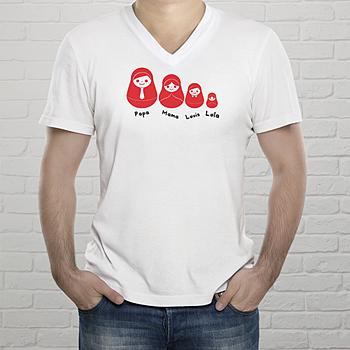 T-shirt met foto - Baboesjka t-shirt met familie - 1