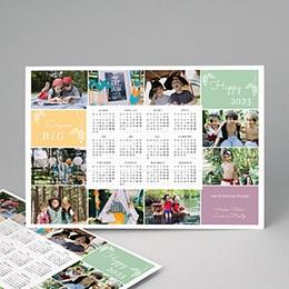 Kalender jaaroverzicht De kleuren in het jaar