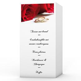 Personaliseerbare menukaarten huwelijk In de luwte van rozen