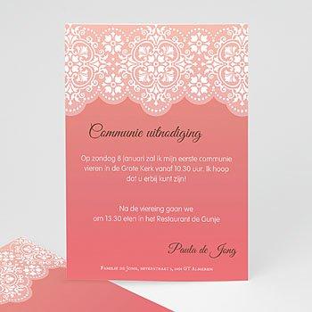 Uitnodiging communie meisje - Trouw aan God - 5