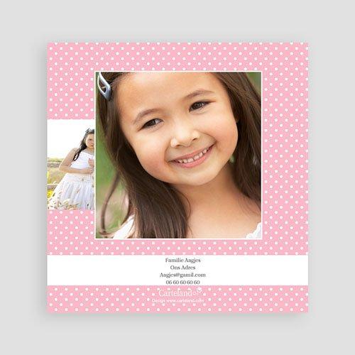 Bedankkaart communie meisje - Uitnodiging eerste communie - Bloei van de Geest - 12565 thumb