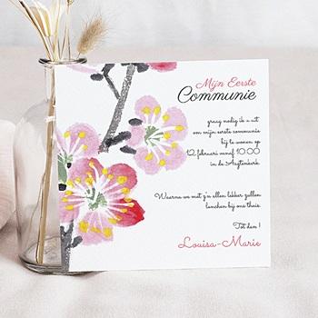 Uitnodiging communie meisje - Uitnodiging eerste communie - Bloei van de Geest - - 5