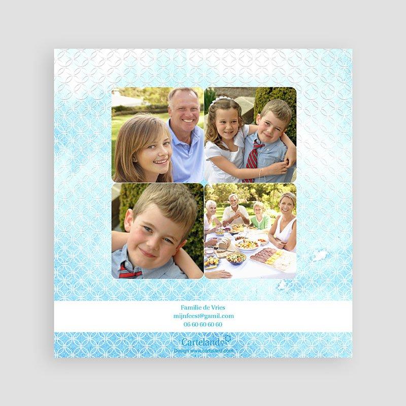 Bedankkaart communie jongen - Het heilige water effect 12577 thumb