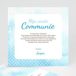 Aankondiging Communie Het heilige water effect