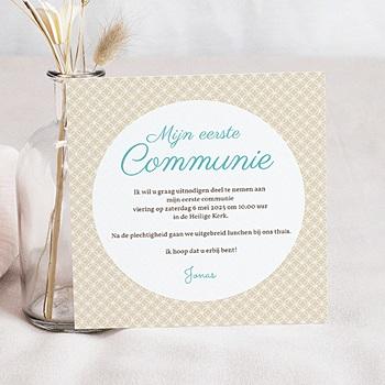 Uitnodiging communie jongen - uitnodigingskaart  communie jongens- State of Grac - 5