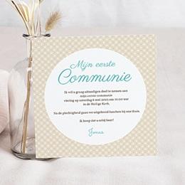 Aankondiging Communie uitnodigingskaart  communie jongens- State of Grac