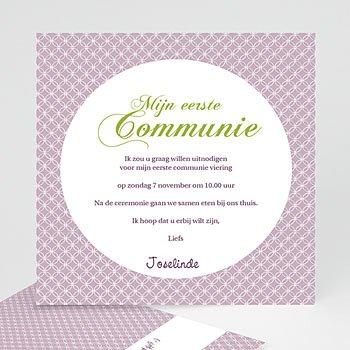 Uitnodiging communie meisje - Uitnodiging communie - Heilige momenten - zokaartj - 5