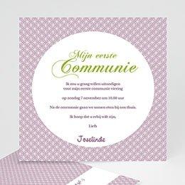 Uitnodiging communie meisje Uitnodiging communie - Heilige momenten - zokaartj