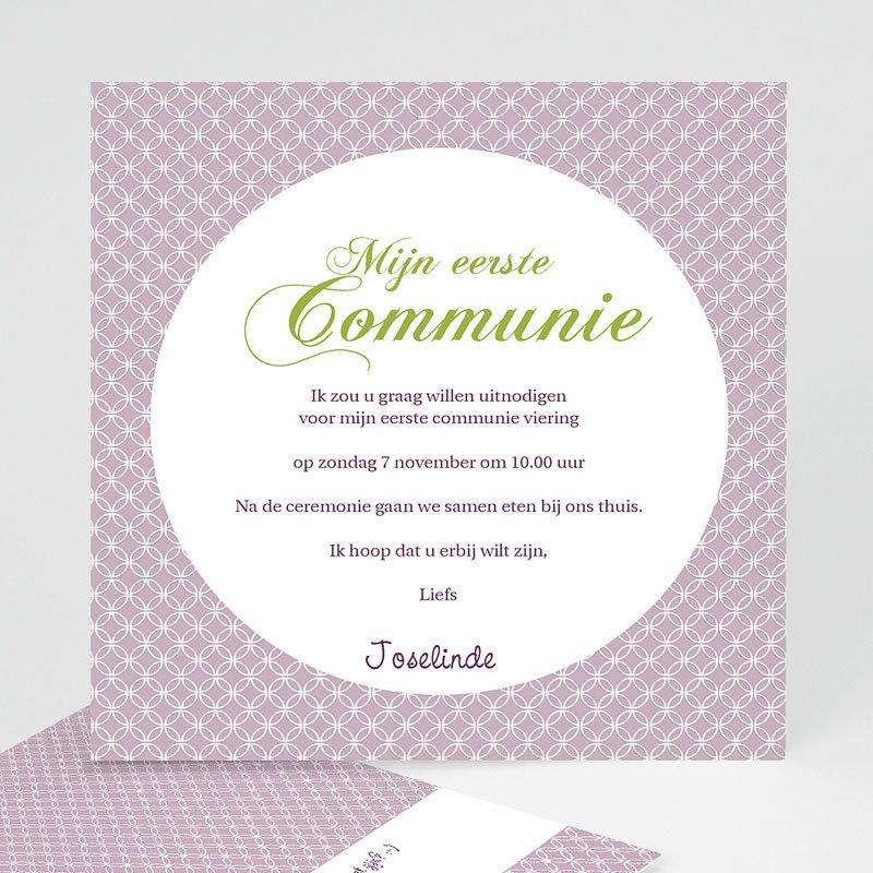 Uitnodiging communie meisje - Uitnodiging communie - Heilige momenten - zokaartj 12606 thumb