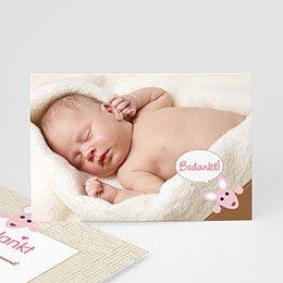 Geboortekaartjes meisje - Meisje kangaroe - zokaar - 5
