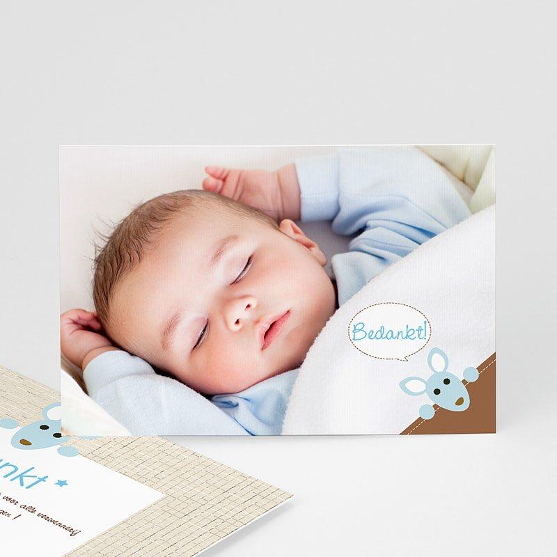 Bedankkaartje geboorte zoon - Kangoeroe  12618 thumb