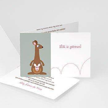 Geboortekaartje meisje - Geboortekaartjes meisje - Meisje kangaroe - zokaar - 5