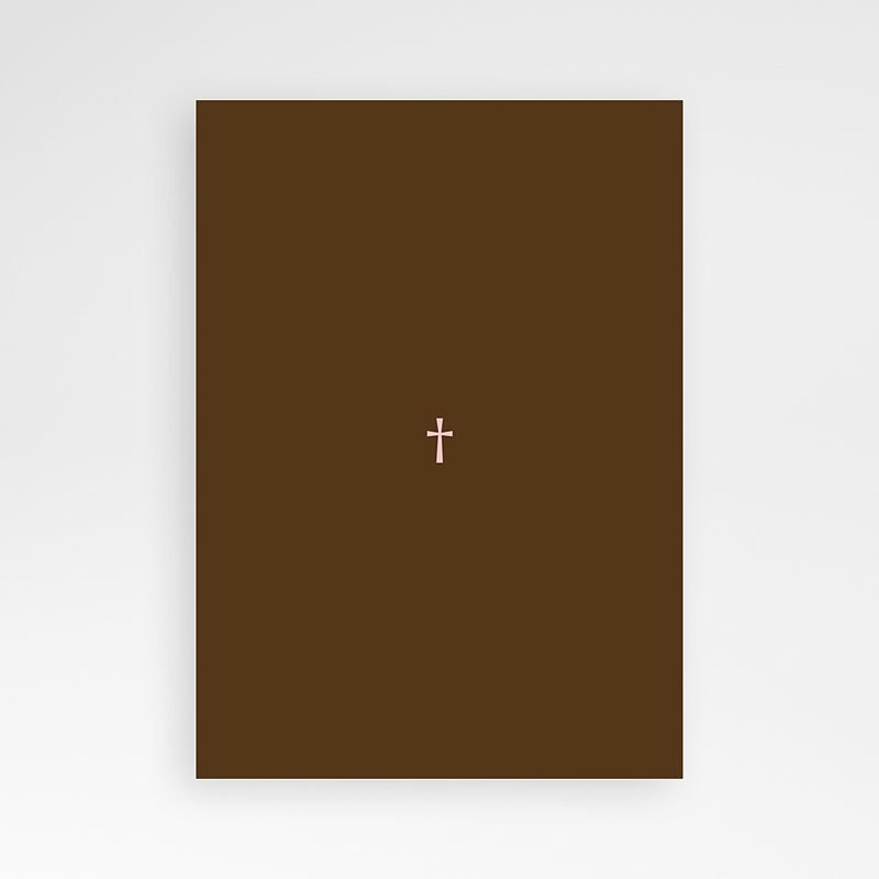 Uitnodiging communie meisje - Bruine tinten fotokaart eerste communie 12706 thumb